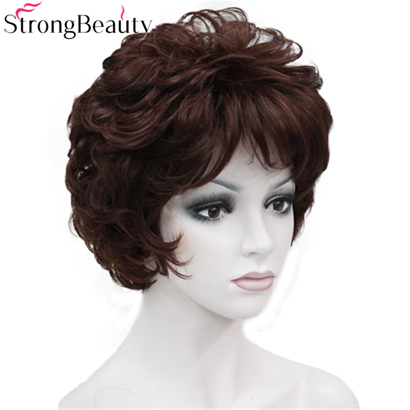 Image 4 - StrongBeauty Fake Synthetic Hair Lady Short Curly Wigs For Women Many Color For Choosewigs for womenwig curlywig wig -