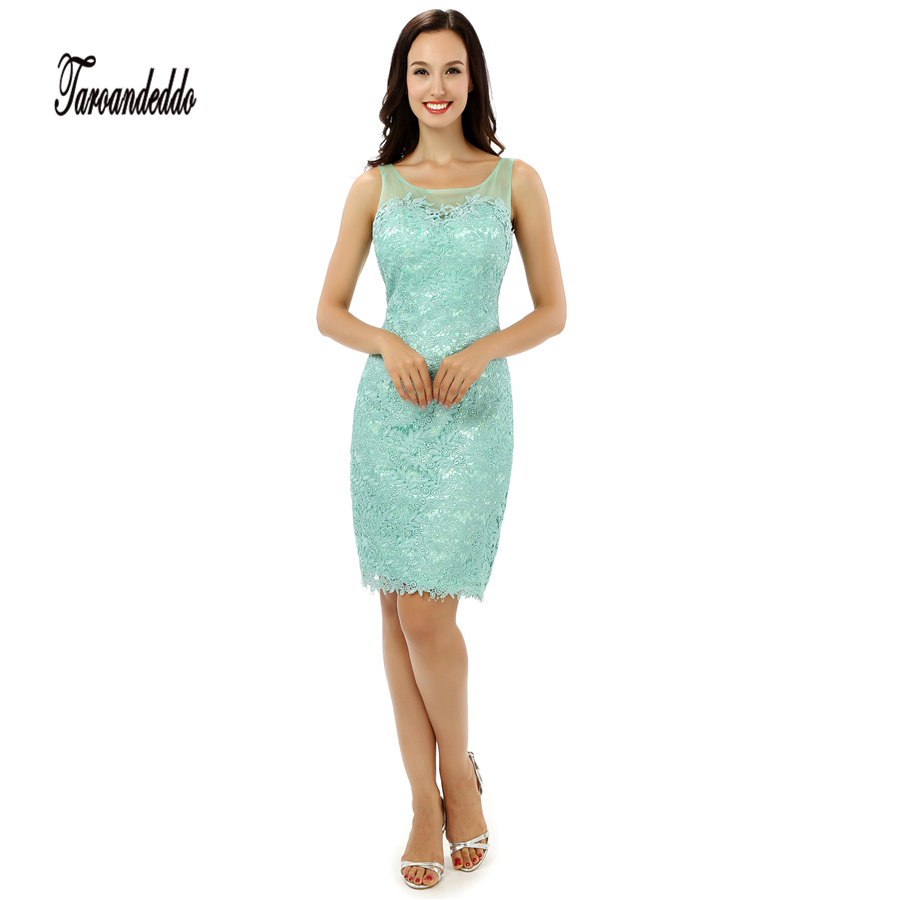 ef5e29e88e Scoop Neckline Sleeveless Mint Green Short Length Prom Dresses Illusion  Back Short Evening Dress vestidos graduacion