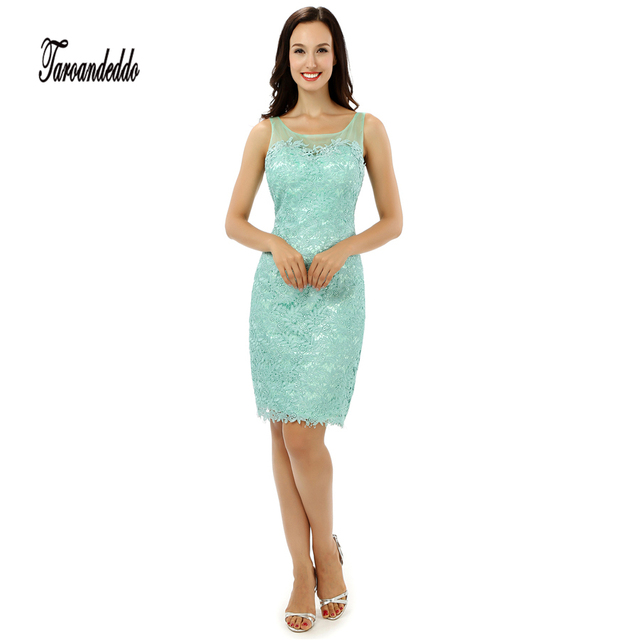 Scoop Neckline Sleeveless Mint Green Short Length Prom Dresses ...