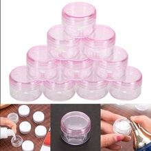 10Pcs Plastic 5ml Cosmetic Jar Empty Eyeshadow Case Face Cream Bottles Glitter Container Eye shadow Empty Nail Pots Beauty Tool