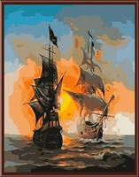 Seascape Framless Art Canvas Painting DIY Painting By Numbers Oil Painting On Canvas Sail Boat Europe