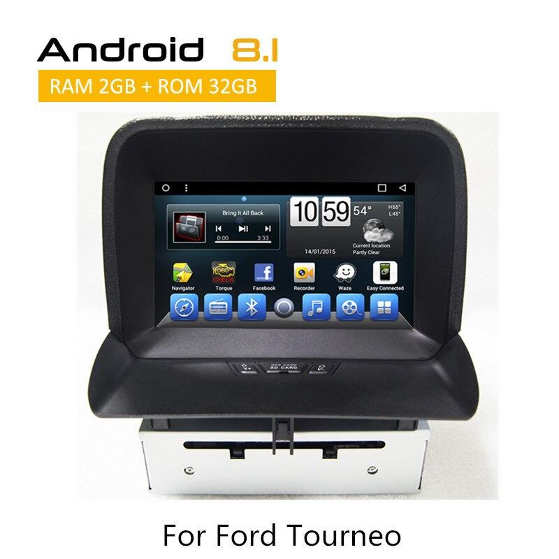 Récepteur stéréo de voiture 2 Din pour Ford Tourneo GPS caméra de Navigation entrée 3G Wifi SWC AUX bluetooth TPMS commande au volant
