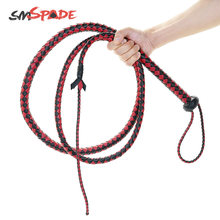 165cm Long Faux Leather handmade Bullwhip Heavy Duty Riding Whip Red and Black adult sex product flirting sex toys(China)