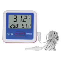 LCD Fridge Freezer Thermometer With Probe Digital Refrigerator Temperature Measuring Tool Thermograph TM805 Accurate