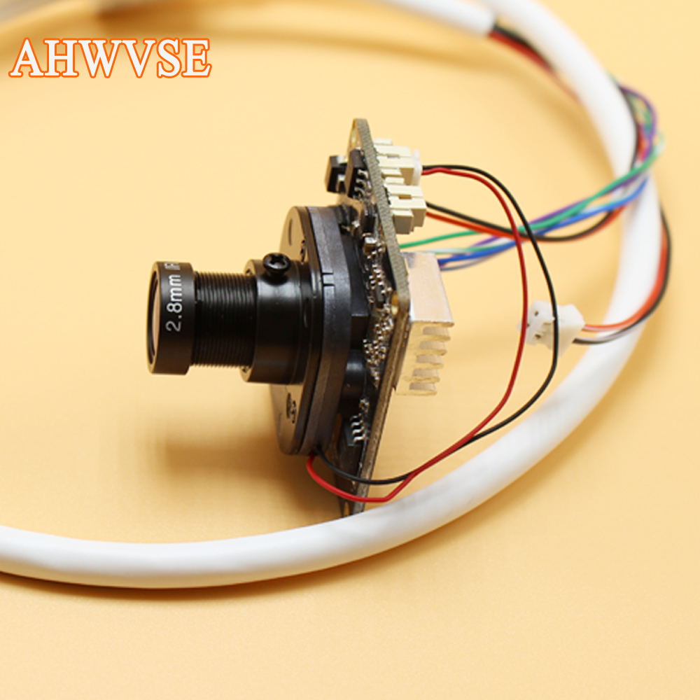 AHWVSE Wide View 2.8mm Lens H.264 1080P 720P 960P CCTV IP camera module board with LAN cable 16mm lens ONVIF P2P indoor цена 2017
