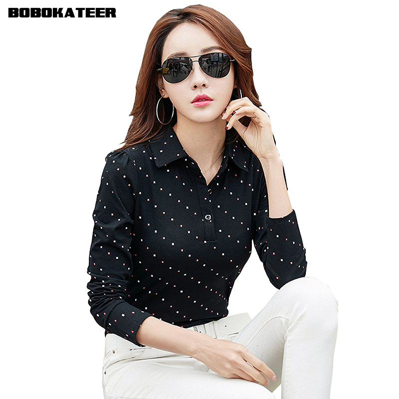 BOBOKATEER Long Sleeve Tshirt Women T Shirt Cotton Tee Shirt Femme Solid Casual T-shirt Women Tops 2