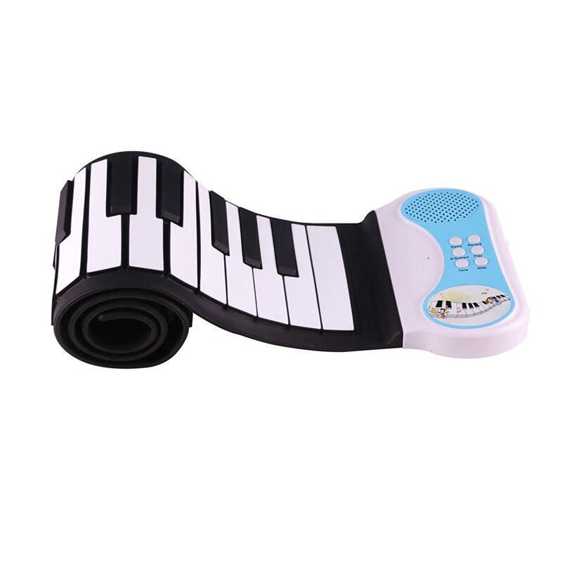 Professionnel 49 clés silicone Flexible main retrousser Piano Portable électronique clavier orgue Instrument de musique cadeau pour Childr