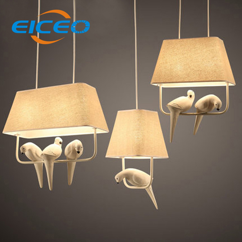 (EICEO) Modern countryside style LED pendant light E14 lampholder metal/cloth art deco lamp novelty Indoor birdcage light original laptop motherboard for toshiba t215 t220 k000106050 la 6032p mainboard 100% full tested