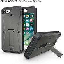 Ударопрочный Броня телефона чехол для iPhone 5 5S SE Чехлы ударопрочный пыленепроницаемый 360 всего тела защитный Fundas