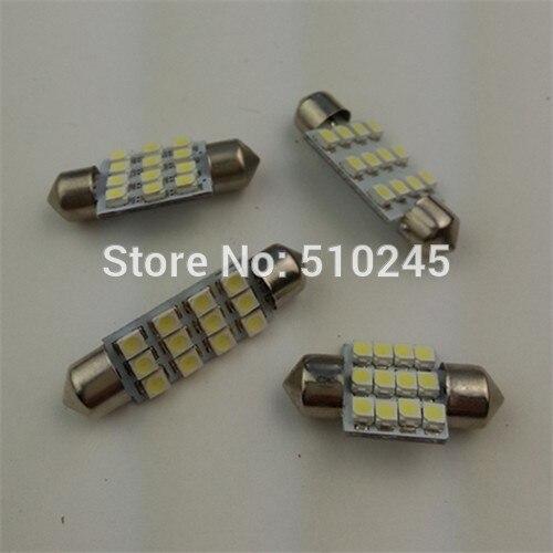 100x hot sales wholesale Car led lamp festoon light c5w 12 SMD led 12smd 3528 36MM Auto led reading bulbs Free shipping
