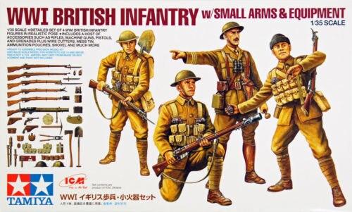 Tamiya 32409 WWI British Infantry w Small Arms Equipment 1 35 scale kit
