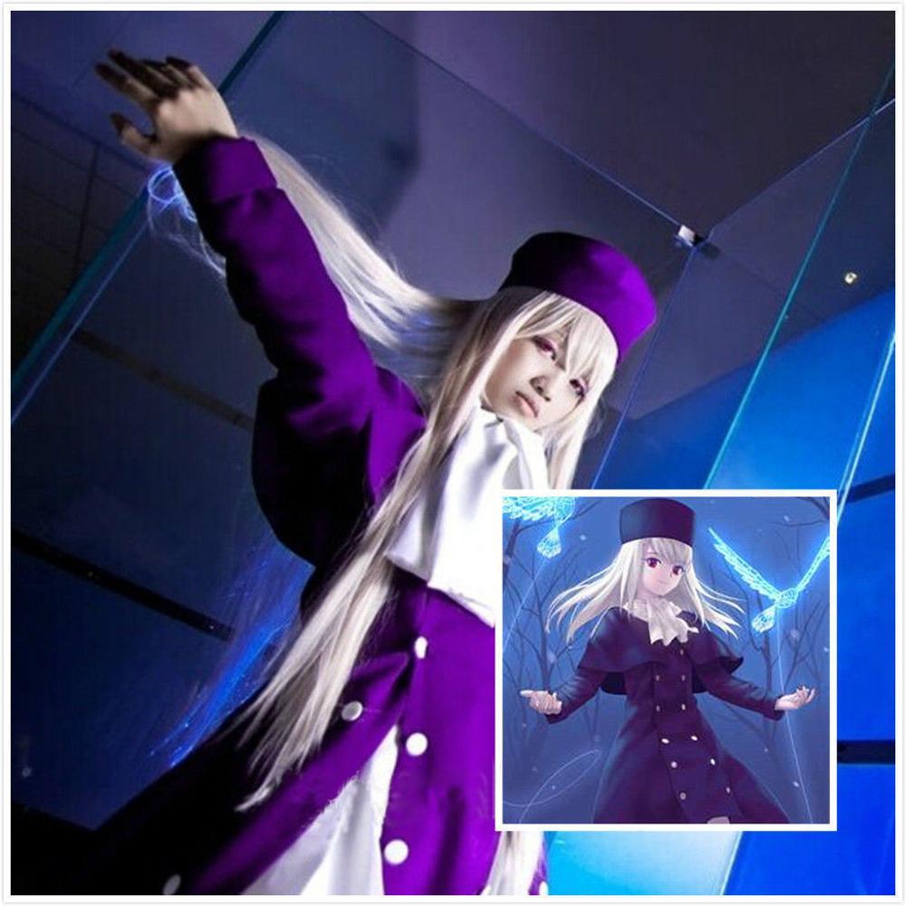 New Fate/stay night Costume Cosplay Anime Illyasviel von Einzbern Dress Hat Set Free Shipping
