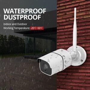 Image 3 - Kit de caméra de sécurité sans fil 4MP, IP Wifi, carte SD, vidéosurveillance extérieure 4CH, Audio