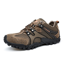 Men Hiking Shoes Comfortable Sport Shoes Rubber Sole Outdoor Walking Shoes Male Fashion Breathable Climbing Wear resistant Shoes camel outdoor men s hiking shoes slip resistant male breathable comfortable waterproof genuine leather climbing shoe a632302285