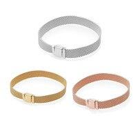 2018 New 3 Colors Reflexions Bracelet 925 Sterling Silver Brand Charm Bracelet For women Marriage Party Bracelet Diy Jewelry