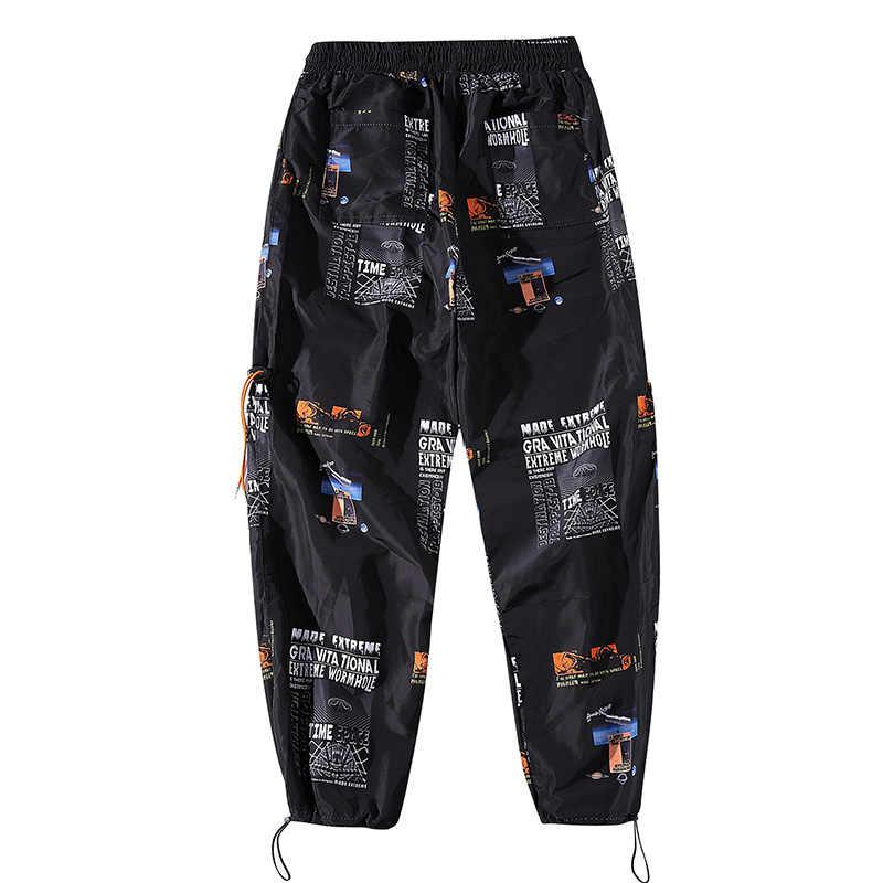 drop shipping Hip Hop Sportswear Ankle-length Pants Casual Sweatpants Fitness Joggers Men Pants Street Trousers ABZ40