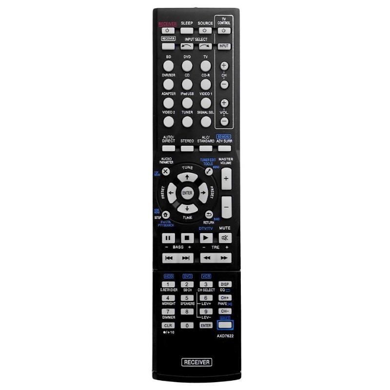 Plastic Replacement AXD7622 TV Remote Controller For Pioneer VSX-521 AXD7660 VSX-422-K AXD7662 Hot Sale