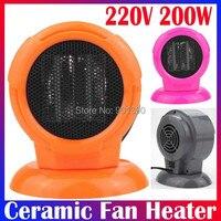 мини портативный персональный керамическая вентилятор пренатальной обогреватель электрический 220 в / 100 вт теплый воздух вентилятор