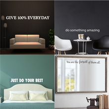 Inspirational Phrase Quotes Sentence Vinyl Wall Sticker Business Workplace Bedroom Home Office Gym And Fitness Decor Decals