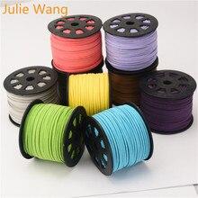 Julie Wang, 5 м/упаковка, 2,6 мм, замшевые шнуры для самостоятельного изготовления ожерелья, подвеска, цепочка, веревка, браслет, аксессуары для изготовления ювелирных изделий
