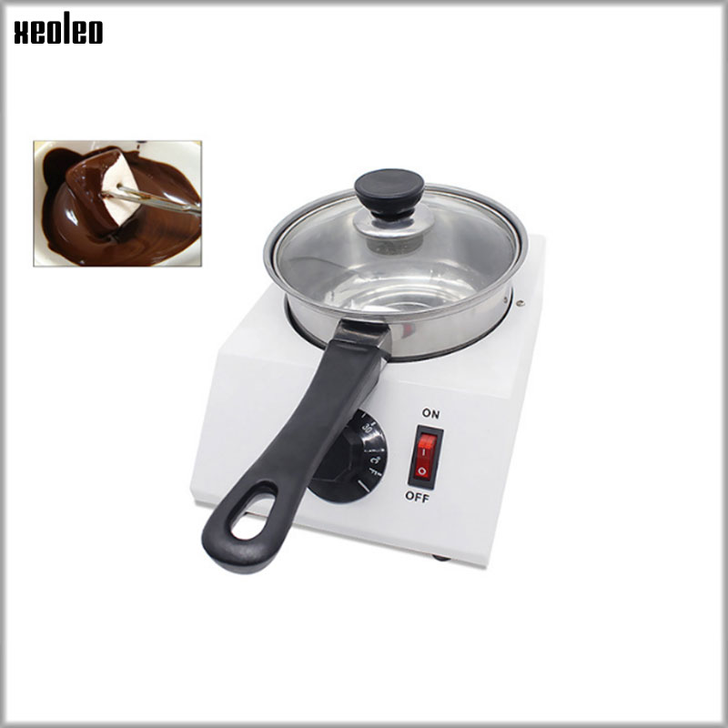 XEOLEO Chocolate Melt Pot chocolate melter stove Chocolate Fountain Electric homehold wine/milk tempering machine AU/EU/UK/US