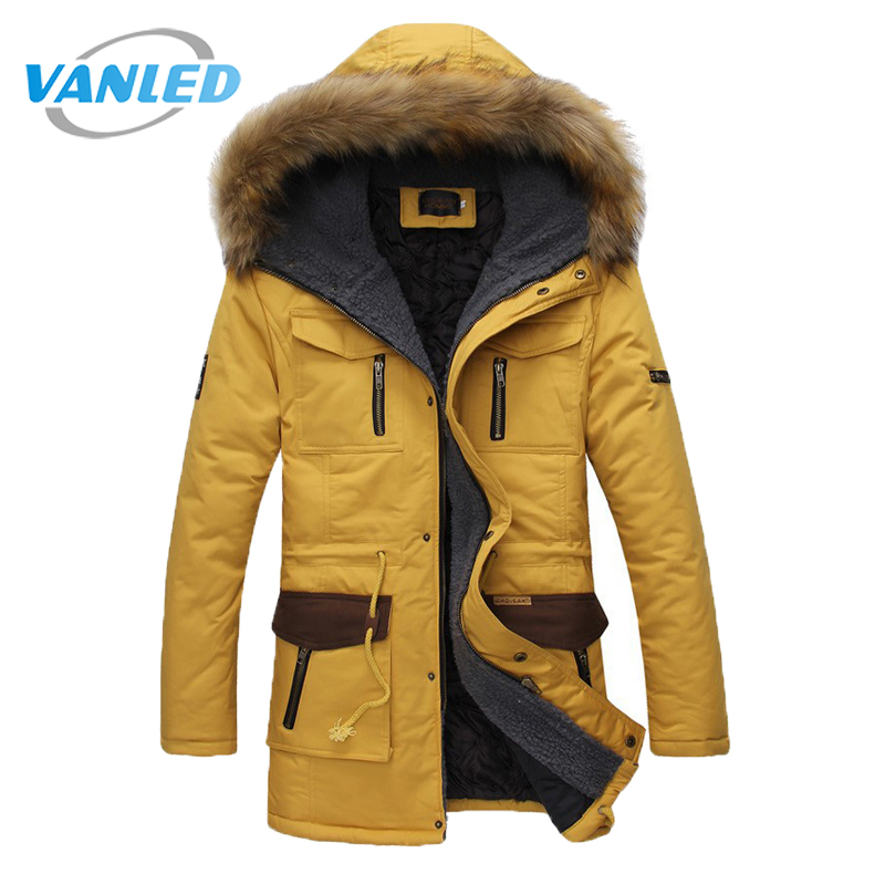 2017 New Arrival Fashion Winter Jacket Men Hooded Warm Coats Parkas Men Thick Long Solid Pocket Men'S Winter Jackets new arrival 2017 men autumn and winter warm windbreaker long sleeves solid color hooded sports quick drying softshell men 150