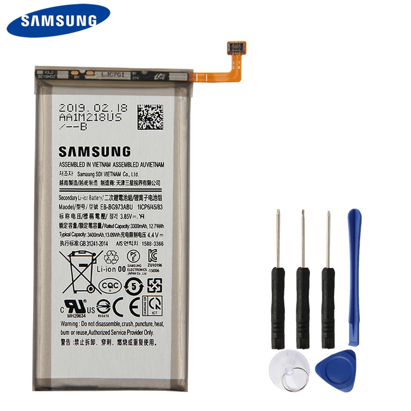 Original Samsung Battery EB-BG973ABU For Galaxy S10 S10X SM-G9730 Genuine 3400mAh