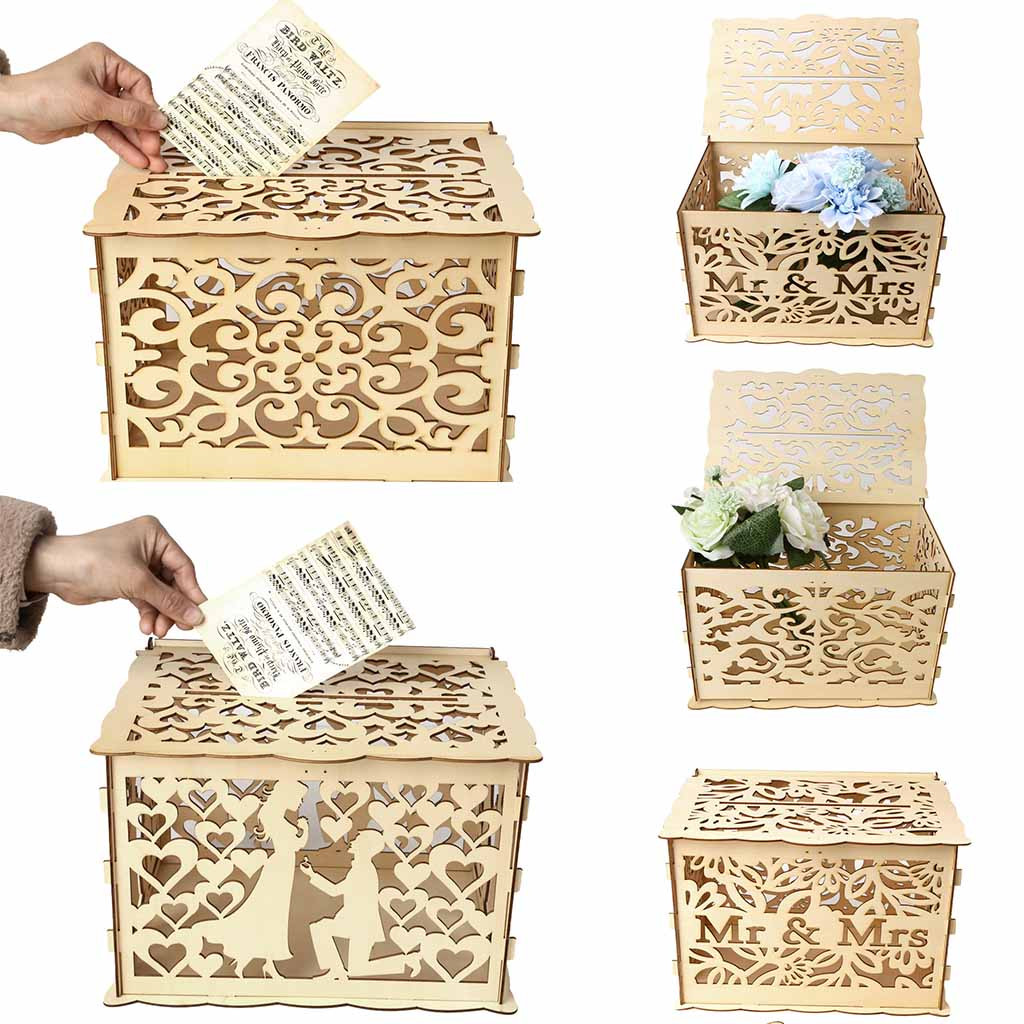Wedding Gift Table Ideas: Party Decoration Wedding Card Box With Lock DIY Money