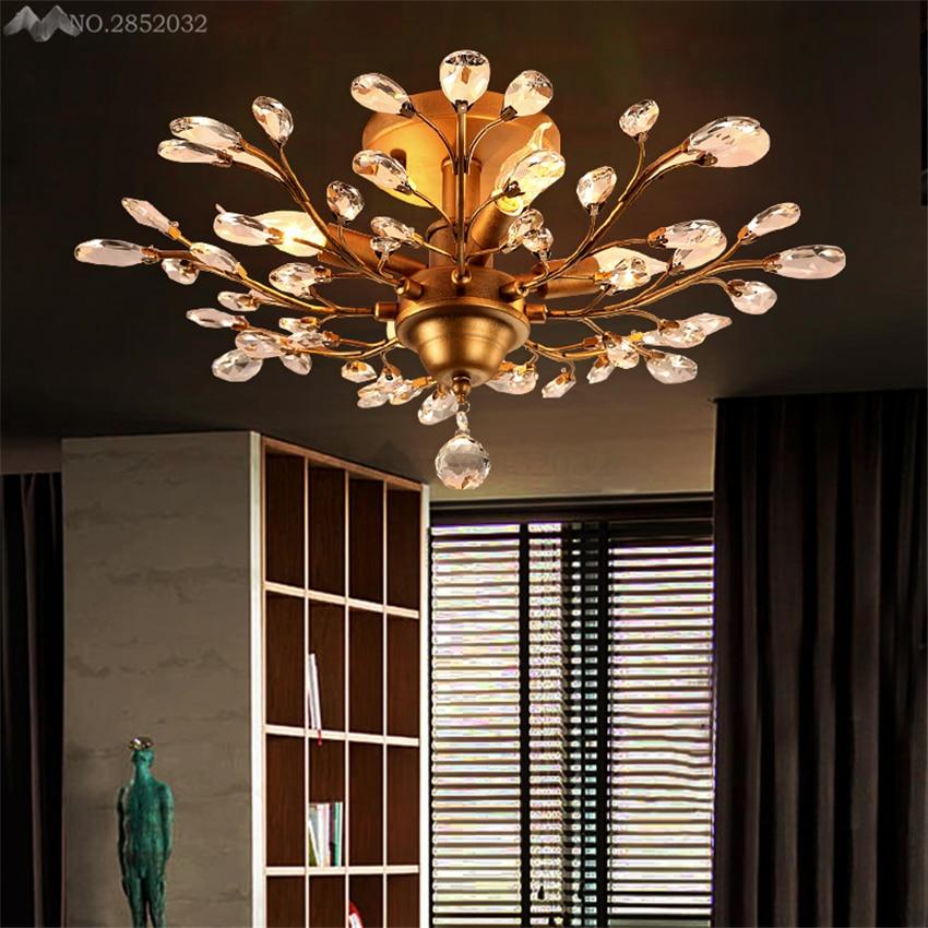 Personnalité lustre moderne salon lustres de cristal décoration Tiffany pendentifs lustres éclairage à la maison lampe intérieure
