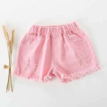 2019 NEW Summer Fashion Girls Soft Denim Pocket Short Jeans Pants Baby Casual Trousers Kids Shorts Children's Clothing 4