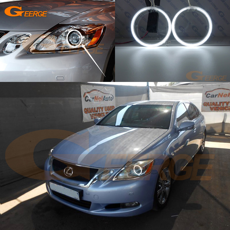 For LEXUS GS300 GS350 GS430 GS450 2006-2011 XENON headlight Excellent angel eyes Ultra bright illumination CCFL Angel Eyes kit hochitech excellent ccfl angel eyes kit ultra bright headlight illumination for ford edge 2011 2012 href