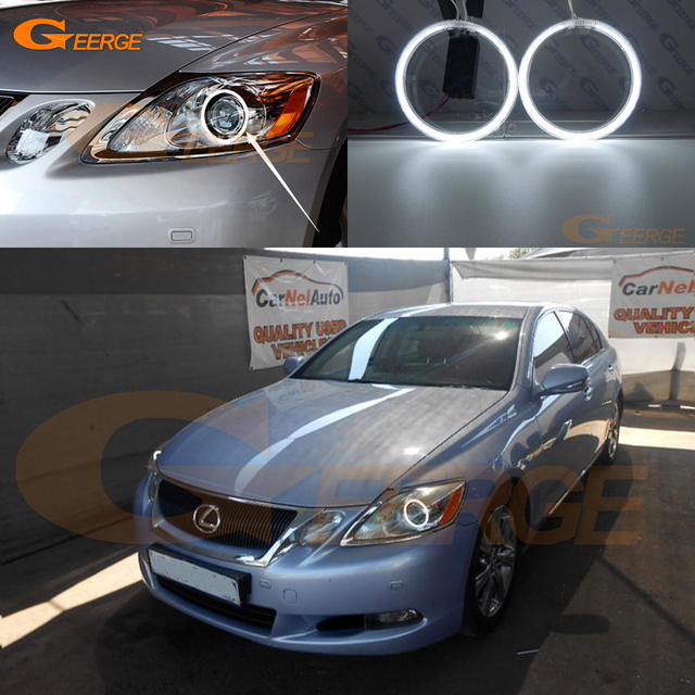 For LEXUS GS300 GS350 GS430 GS450 2006 2011 XENON Headlight Excellent Angel  Eyes Ultra Bright