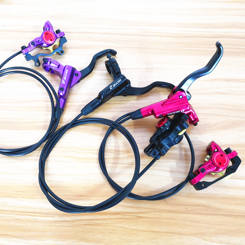 1 pair Bike Hydraulic Brake Kit 750/1350 mm MTB Bicycle Disc Brake Set Front and Rear Bike Parts 1 pair disk brake line pulling mtb hydraulic disc brake calipers for front