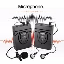 BOYA BY-WM5 Lavalier de Solapa Sistema de Micrófono Inalámbrico Profesional Para DSLR Cámara de Vídeo Grabadora de Audio Para Canon
