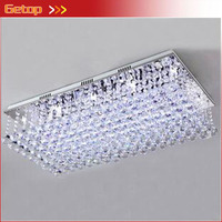 ZX Free Shipping Modern Crystal LED Ceiling Lamp Rectangle Contracted Segmented Chandelier Bedroom Living Room Indoor Lighting