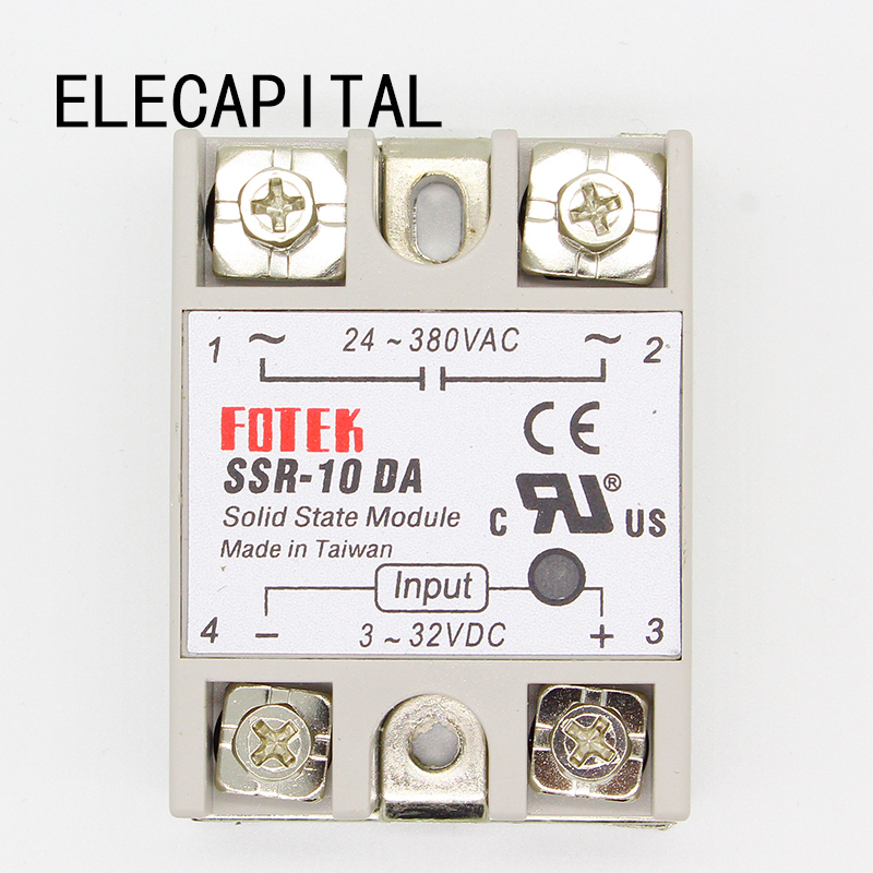 1pcs solid state relay SSR-10DA 10A actually 3-32V DC TO 24-380V AC SSR 10DA relay solid state high quality new 1pc new solid state relay g3mb 202p dc ac pcb ssr in 12v dc out 240v ac 2a june xq s018y high quality