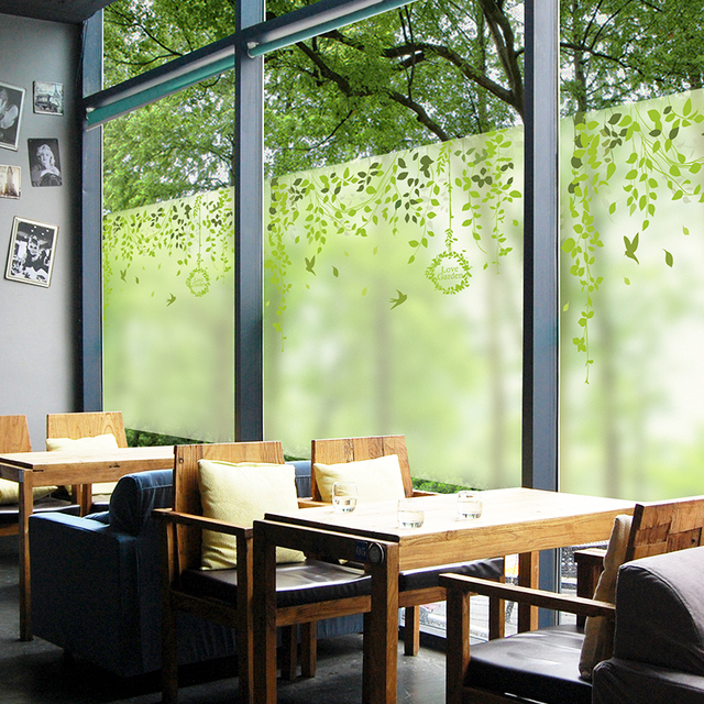 Frosted Gl Film Window Stickers Small Fresh Transpa Opaque Restaurant Decorative Self Adhesive