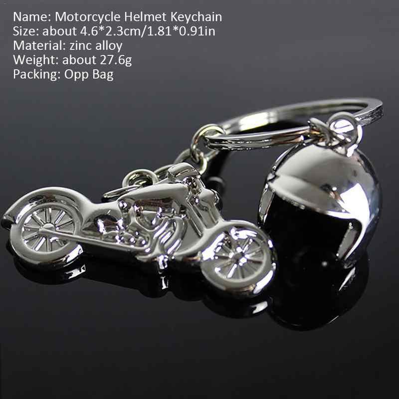 3D Sepeda Motor Helm Paduan Gantungan Kunci Gantungan Kunci Gantungan Kunci Chian untuk Kawasaki Ninja 650R ER6F ER6N Versys W800 Se Z750S ZX636R ZX6RR