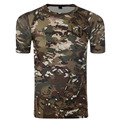 Army Tactical Camuflagem Camisa Quick Dry Respirável Calças Justas da Aptidão do verão T-shirt Dos Homens de manga curta Camisas De Compressão