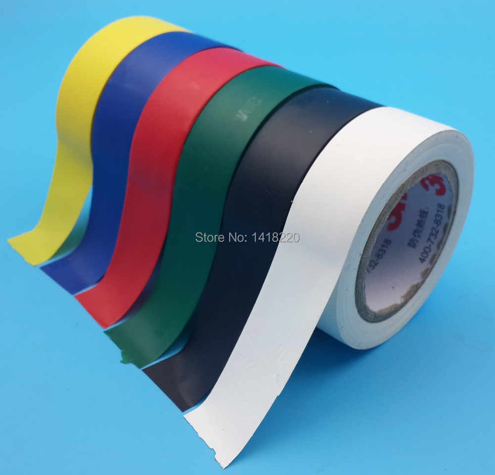 6 kind color 3m 1500 vinyl electrical tape insulation adhesive tape each one in tape from home. Black Bedroom Furniture Sets. Home Design Ideas