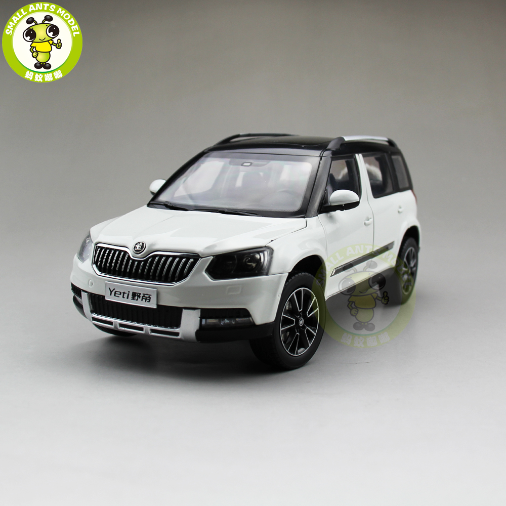 1 18 VW Skoda Yeti SUV Diecast Metal SUV CAR MODEL gift hobby collection White
