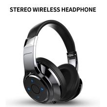 Foldable Nirkabel Bluetooth Headphone Handsfree Headset 3D Bass Stereo dengan Mikrofon untuk Komputer Xiaomi Ponsel Fone De Ouvido