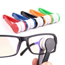 1Pcs Eyeglasses Sunglasses Cleaner Brand New Handle Brush Home Use Spectacles Clean Brusher Cleaning Brush