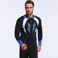 men 3mm diving suit cloth jack long sleeve surfing shirt anti cold pearfishing male snorkeling swimsuit wetsuit coat swimwear