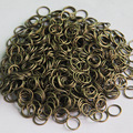 Iron Single Link Loops 4/5/6/7/8/10/12/14/16mm Antique Bronze Open Jump Split Rings Connectors for DIY Jewelry Findings Making