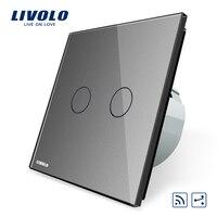 Livolo VL C702SR 15 Touch Remote Switch 2 Gangs 2 Way AC 220 250V LED Indicator