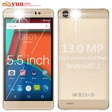 YUNSONG Original YS7pro 5.5 inch screen Mobile Phone 13MP camera 5.5 inch screen MTK6580 Quad Core Dual Sim Cell Phone GSM/WCDMA