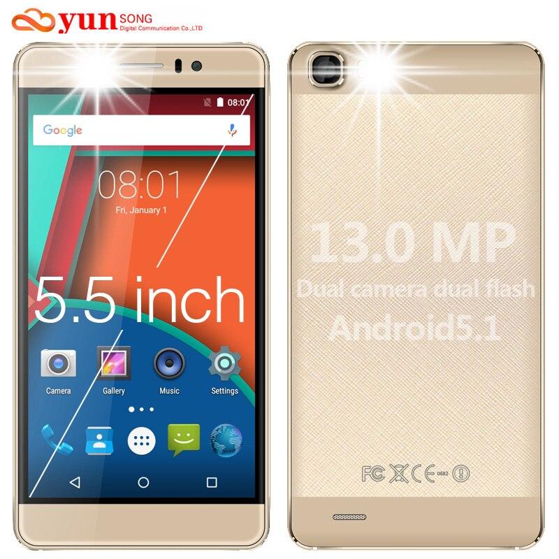 Ys7pro yunsong original 5.5 pulgadas de pantalla del teléfono móvil 13mp cámara