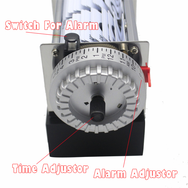 1 Piece Black White Automatic Flip Desk Alarm Clock For Art Home and Office Decorative Mini Table Clock 6