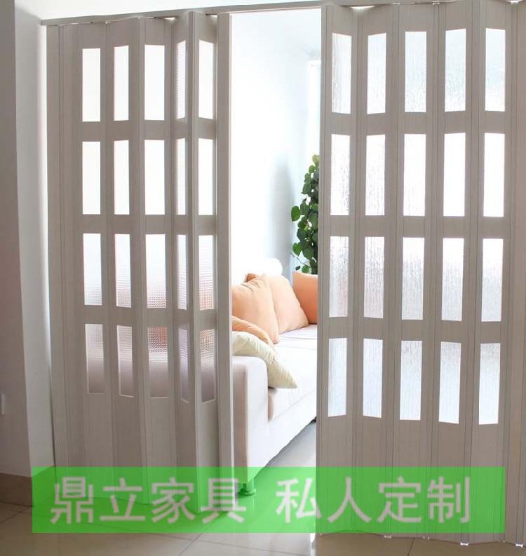 Environmental protection material deluxe interior door PVC folding ...